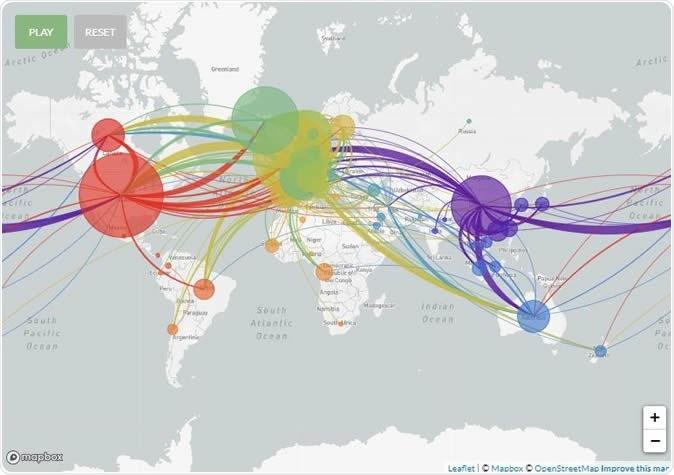 Genomic epidemiology of novel coronavirus. Image Credit: Nextstrain